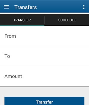 Transfer Funds in our Mobile App