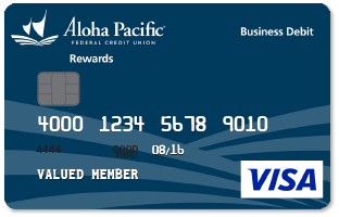 Aloha Pacific Rewards Business Debit Card