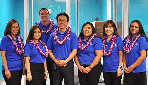 Aloha Pacific FCU Staff at Fort Street branch