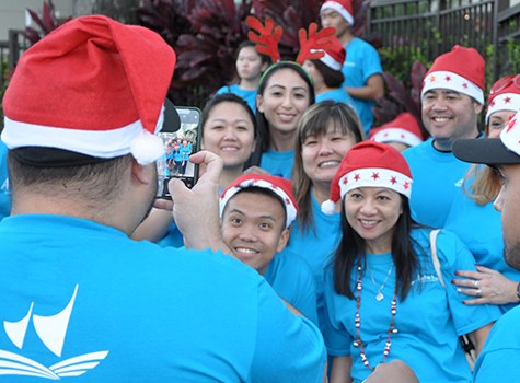 Aloha Pacific FCU Staff at Honolulu City Lights Parade