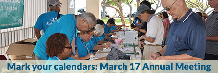 Mark your calendars: March 17 Annual Meeting